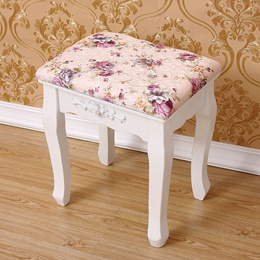 Victorian vanity European style princess floral dressing stool wood make up chair
