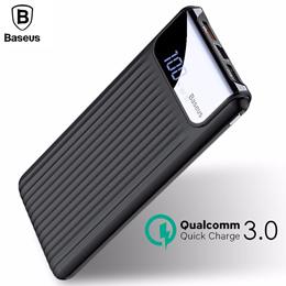 Baseus 10000mAh LCD Quick Dual USB Power Bank Charger [iPhone X 8 7 6 Samsung Xiaomi]