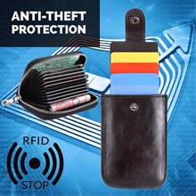 Ultra Thin 🔹RFID🔹 Blocking Credit Cards Case ★ Pull Tab Style ★  Leather Organ Type Card ID Wallet