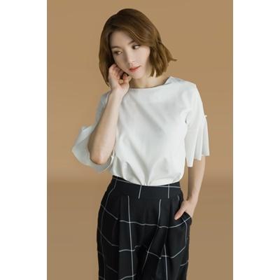 18. pearl detail blouse - white - free