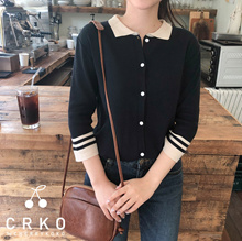 ★ Korea Premium Fashion Brand ★ free shipping ♥ Collar Neck Cardigan / Iconique knit