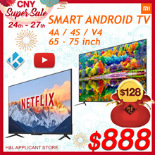 Smart android MI tv 65 inch 75 inch 4K 1 Year Warranty