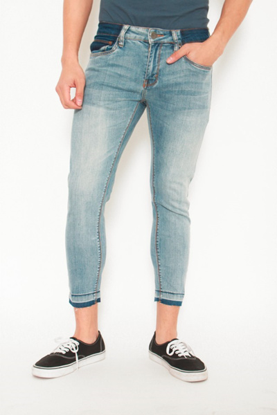 a08ea583 dENiZEN Singapore」- Skinny Denim Jeans Navy Blue