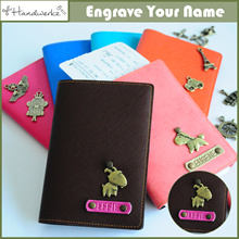 Customized Gift / Personalized Passport Covers Holders Leather ✈ Travel Organizers ✈ Luggage Tags
