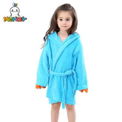 c5c72aeaab ... Bathrobe Kids Baby Towel  lowest price a5cd7 21840 sale MICHLEY Kids  Bath robes Adorable Baby Girl Roupao Hooded Children s ...