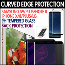 3D Curved Tempered Glass Protector★Samsung Galaxy S9/S8/Plus/S7/Edge/S6/Note 8/iPhone X/8/7/6S/Plus