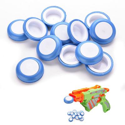 12 Pcs Mini Foam Frisbee Soft Disk Gun Bullets for Nerf Gun toys Blue for Kids