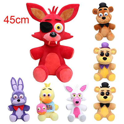 online 45CM Big Size Five nights at freddy s FNAF plush toy Foxy Freddy  Fazbear Bonnie Mangle foxy c