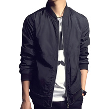 Ulzzang Men s Waterproof Bomber Jacket Men Spring Air Force One Army Military Coat Style Black Male