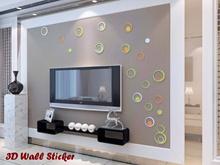 3D Wall Sticker Model Bulat Wall Sticker 3D Model Round HOU SJA3287634283 SJ0001 Qty010