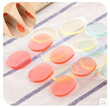 5/set Oval casual foot wear thick silicone posts do not stick heel insoles with heel