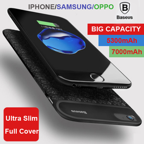new arrival f43c5 82816 Qoo10 - Baseus Battery Case For iPhone 7 6 Plus Samsung Galaxy S8 ...