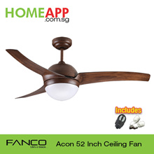 [5 Days only!!] ★★ FANCO A-CON ACON 42 52 ★★ Ceiling fan with Light n Remote. FREE BULBS
