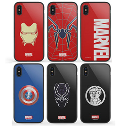 MARVEL AVENGERS GLASS BUMPER CASE FOR GALAXY S10 E NOTE9 NOTE8 S9 S8 PLUS IPHONE XS MAX XR 8 7 PHONE