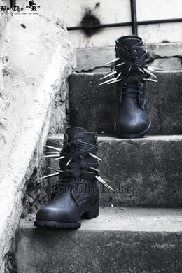 [By The R] By The R  Custom Belted long Stud Boots [Z-1] reau [Free Shipping]