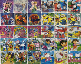 16/30pcs Jigsaw Puzzles/Notepad/magnet/3D sticker/Notebook/educational toys learn toys
