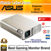 ASUS ZenBeam Go E1Z USB Pocket Projector 150 Lumens Built-in 6400mAh Battery Up to 5-hours Projec
