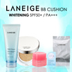 ★LANEIGE★ SPECIAL BUNDLE BB CUSHION WHITENING SPF 50+ PA+++ | #21 NATURAL BEIGE |#13 TRUE BEIGE + 2*LANEIGE LIP SLEEPING MASK 3G + 3*LANEIGE W.R.P CAPSULE SLEEPING PACK