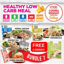 ✂ Bundle Meal of 7 Promo ✂ 💥 Free Drink x 2 💥  Healthy LOW Carb Meal set 🥣
