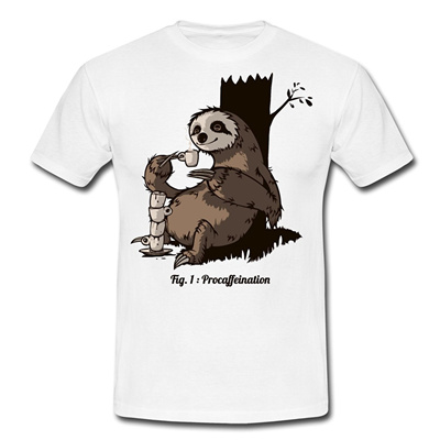 8947588e1 Qoo10 - Sloth Coffee Men s Cotton T-shirt : Men's Apparel