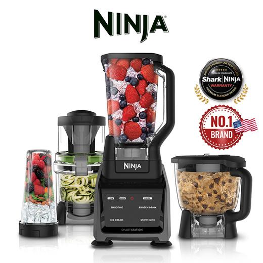 [S$389.00](▼26%)[Ninja Kitchen]Ninja Blender IntelliSense System Food Processor Spiralizer Mixer Juicer Dough  (CT682)