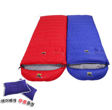 Free shipping / SALEWA Salle and outdoor camping Outdoor sleeping bag / Duck down sleeping bag / Hiking / Outdoor / Riding / Winter camping equipment / 1000g ~ 2000g / Free air pillow