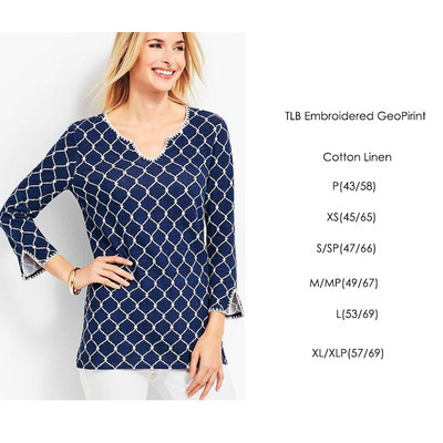 TLB Embroidered Geo Print