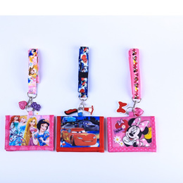 Cartoon Lanyard Bus Card Ez Link Card Cover Disney Kids Wallet Card Holder