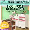 free shipping jawa bali/Jasmine Drawers Collections_8 Drawers / 9 Drawers_