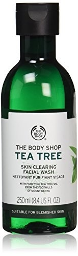 The Body Shop Tea Tree Skin Clearing Facial Wash, Made with Tea Tree Oil, for Blemish-Prone Skin, 10