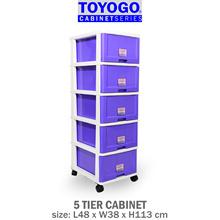 [903-5] TOYOGO - PLASTIC STORAGE CABINET/DRAWER WITH WHEELS (5 TIER)