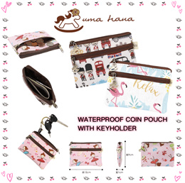 *NEW PRINTS*   Uma hana Coin Purse   Water-proof coin pouch   鑰匙零錢包   UMA012