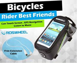 [CLEARANCE] Bicycle Bike Waterproof Phone Holder Roswheel Accessories GPS Pouch Handphone Case Bag