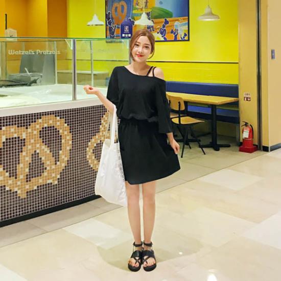 あっかんべーショップオンバル二列OPS 綿ワンピース/ 韓国ファッション