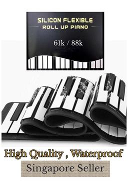 High Quality Waterproof Portable Foldable Rollup Piano * 61k / 88k * Drum Pad / Desktop Speakers