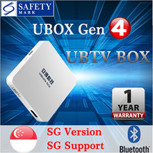 UNBLOCK Tech TV BOX Ubox Gen4 Bluetooth SG Local version | 1 Year Official Warranty