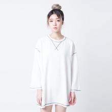 Merongshop-Premium Kaos Polos Oversized Boy M Boy Women White 24934-000B