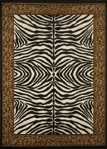 Zone Home Dynamix Area Rugs 75 Leopard On Zebra Rug