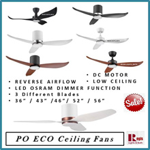 [SALES] PO ECO DC Motor Fan Hugger + Osram 20w LED (3-Tones) Dimming- Reverse Airflow 36/43/46/52/56