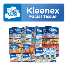 [BUNDLE of 6] KLEENEX 3PLY Facial Tissues
