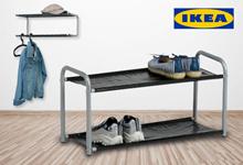 IKEA LUSTIFIK Hat / Shoe Rack Rak Topi / Sepatu Hitam