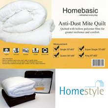 Homebasic ADM Quilt - Anti-Dust Mite * Hygenic * Comfort * Odourless * Washable * Durable