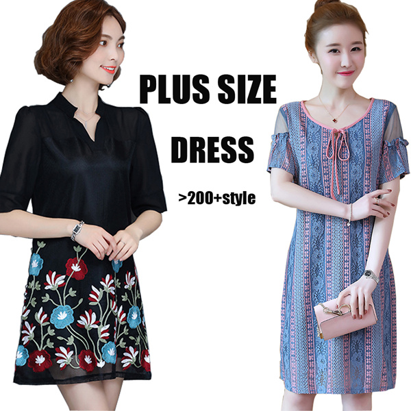 Plus Size S-7XL high quality dress/Short sleeve/summer/Maternity Deals for only RM0.19 instead of RM0