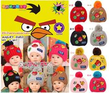 ACG094 kupluk Angry Birds label / baby wool hat label -