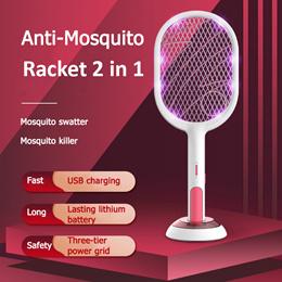 ❤Mosquito Killer Racket❤ USB Zapper Swatter Kill Bug Flies Lamp Pest❤SG Seller❤