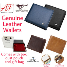 [Septwolves/Arete First] Genuine Leather Wallet for Men | Carbon Fibre Wallet | Bifold