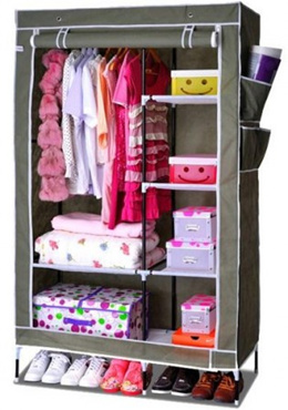 Rak Baju Lemari Pakaian Lipat Laci Tingkat Storage Cloth Rack Murah Un
