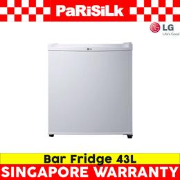 LG GL-051SQ BAR FRIDGE (43L) White  - Singapore Warranty