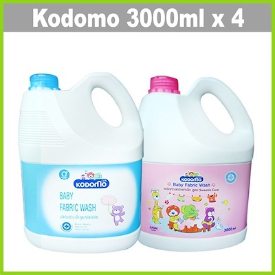 [KODOMO]Baby Fabric Wash 3000mlX4?SPECIALLY FOR WASHING BABY LAUNDRY Deals for only S$85.8 instead of S$85.8