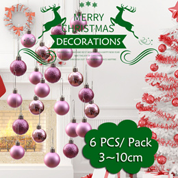 [JD]6 PCS / Pack 3-10cm Round Christmas Ball Wedding Party Christmas Tree Party Decorations